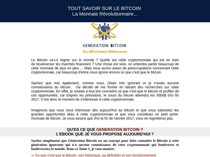 generation bitcoin