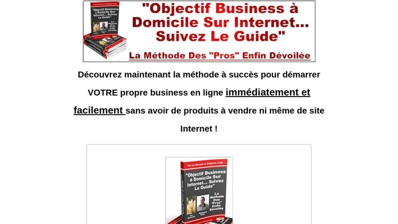 objectif business a domicile sur internet
