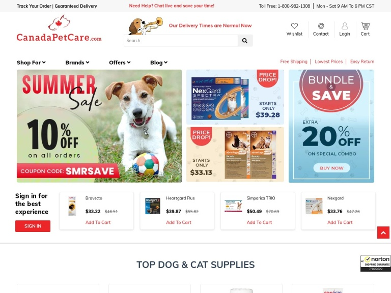 CanadaPetCare screenshot
