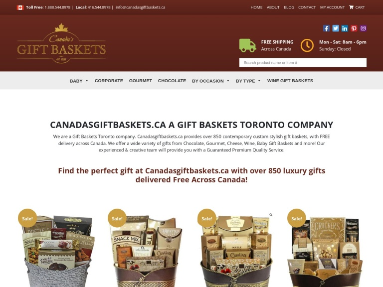 Canadas Gift Baskets Coupon Codes