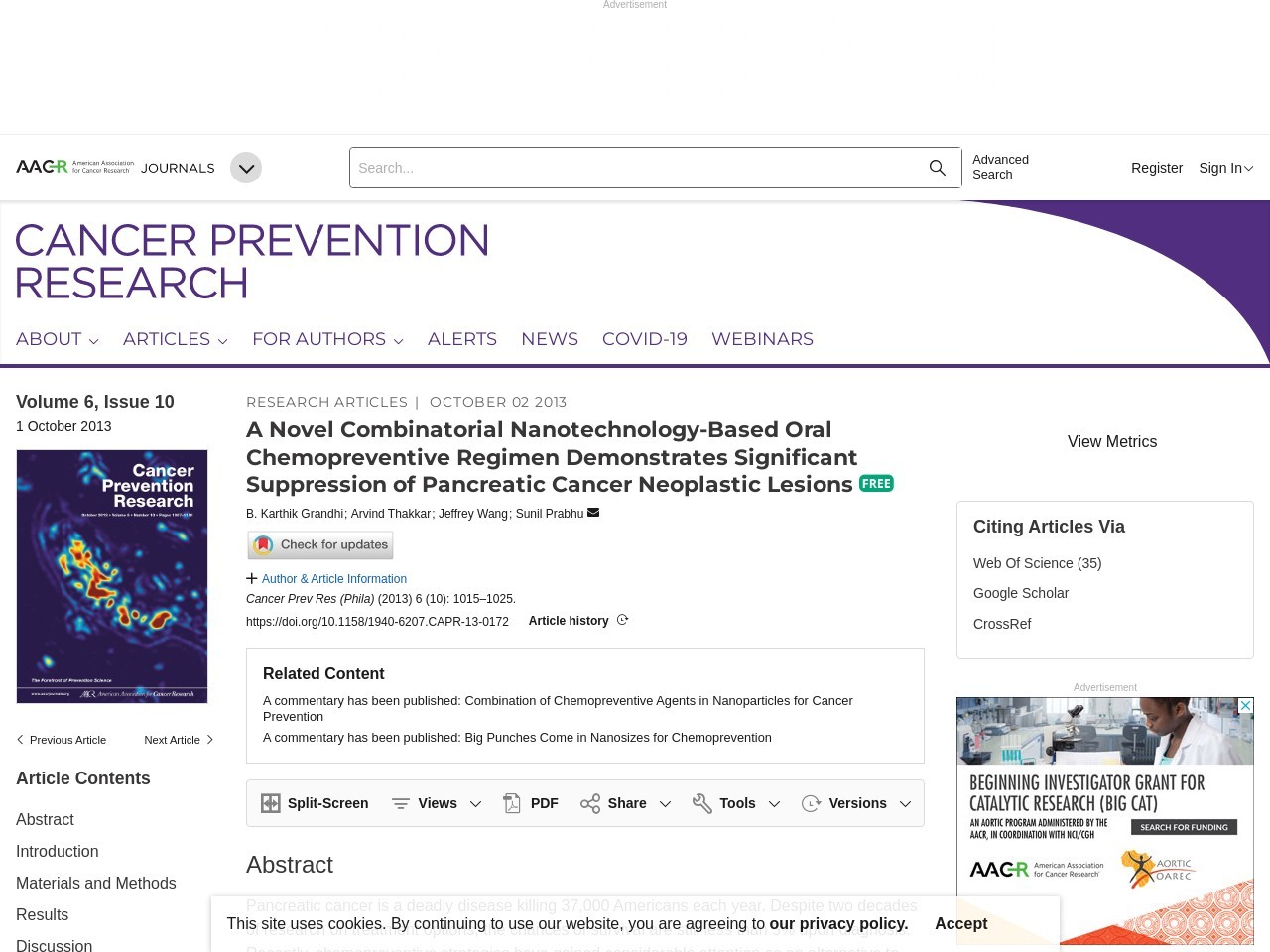 Abstract – Cancer Prevention Research – AACRJournals.org
