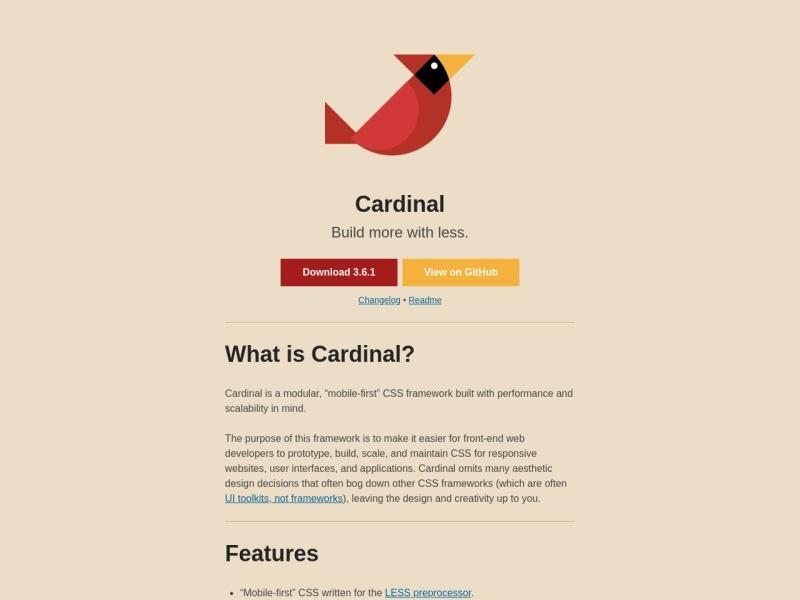 Cardinal | モバイル環境を優先したCSSフレームワーク