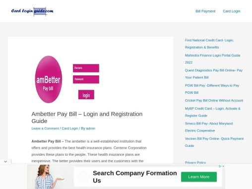 Ambetter Pay Bill – Login and Registration Guide