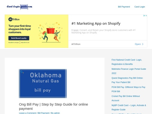 Ong Bill Pay   Step by Step Guide for online payment