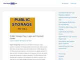 Public Storage Pay | Login and Payment Guide