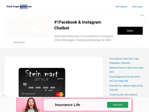 Stein mart credit card Login, Register, and Make Payments
