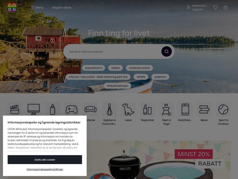 CDON.com screenshot