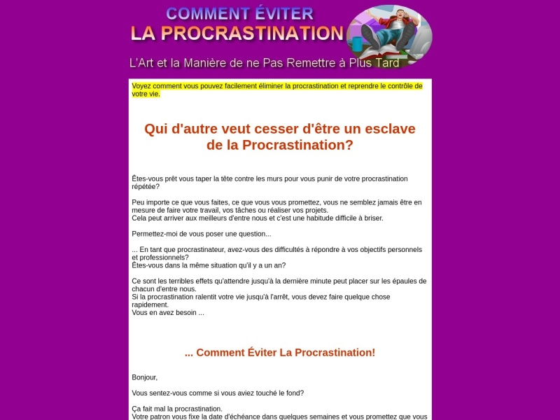 eviter la procrastination