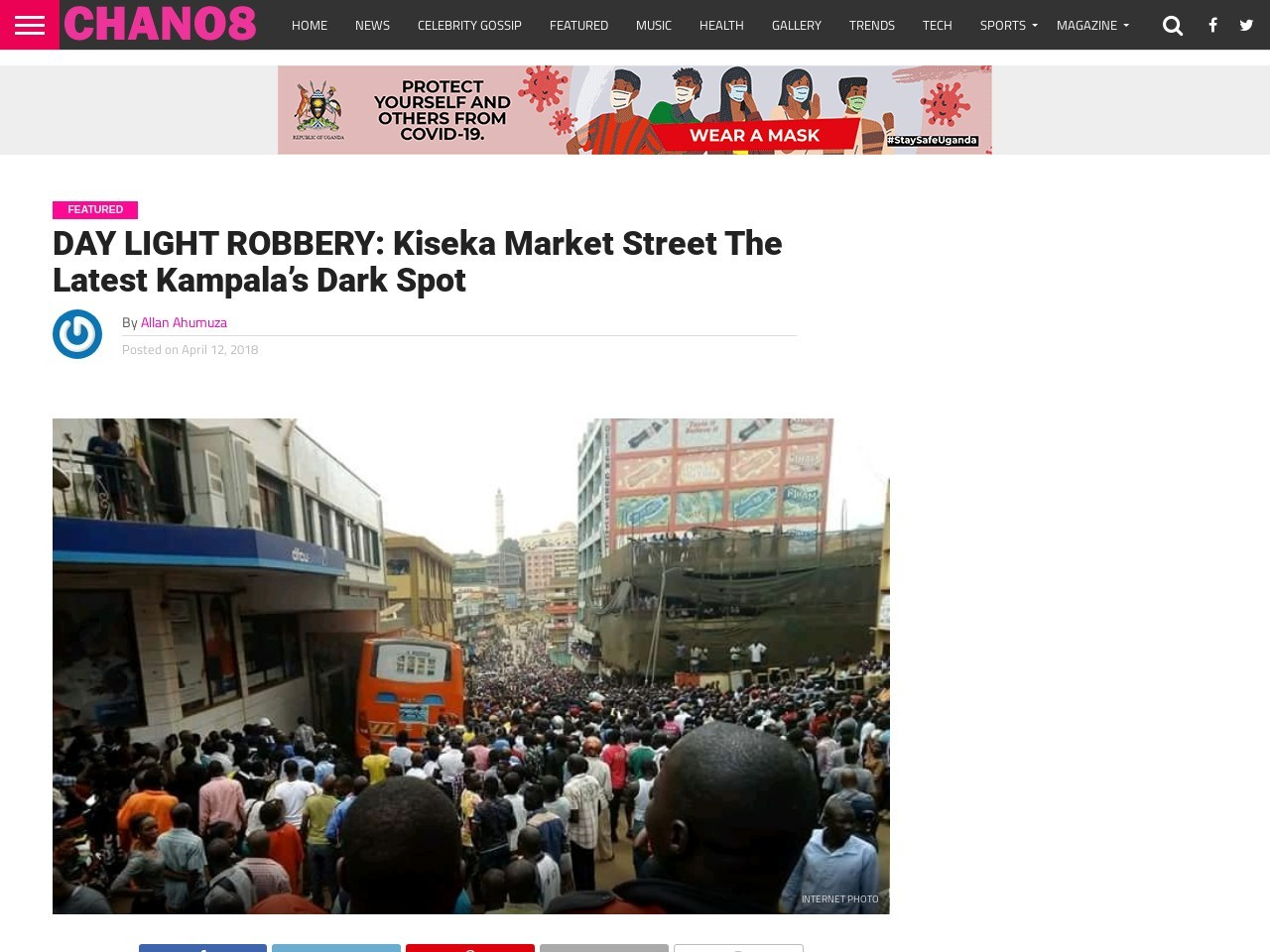DAY LIGHT ROBBERY: Kiseka Market Street The Latest Kampala's Dark Spot