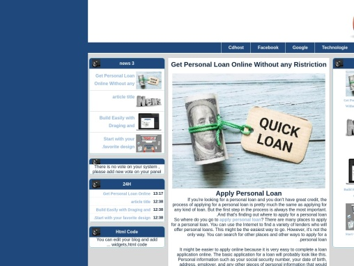 Get Personal Loan Online Without any Ristriction