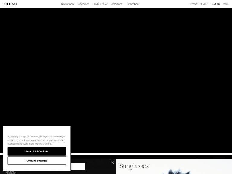 Chimi Eyewear screenshot