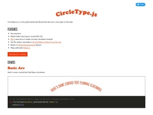 CircleType.js lets you set type on a circleのスクリーンショット