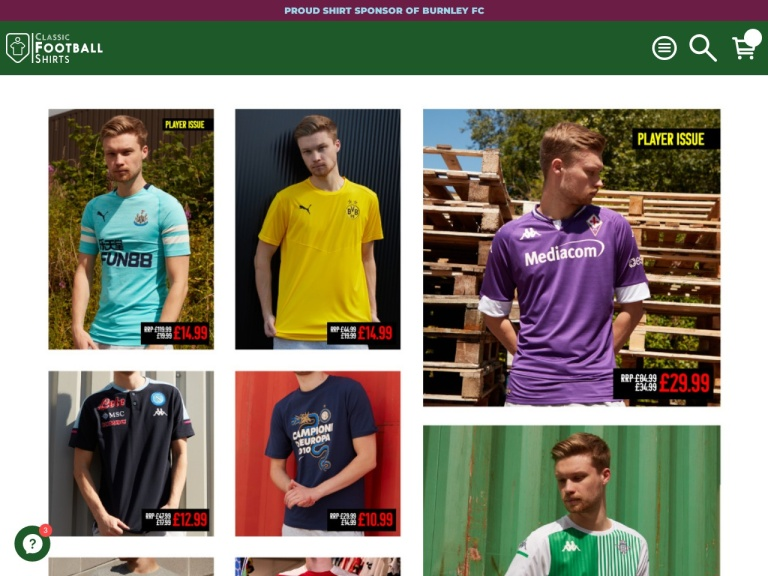 Codice sconto Classic Football Shirts screenshot