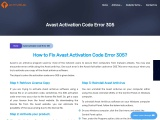 Solved: Avast Activation Code Error 305 | clean-my-pc.com