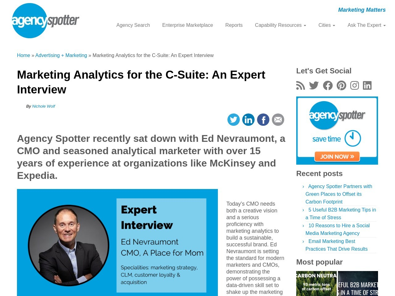 Marketing Analytics for the C-Suite: An Expert Interview …