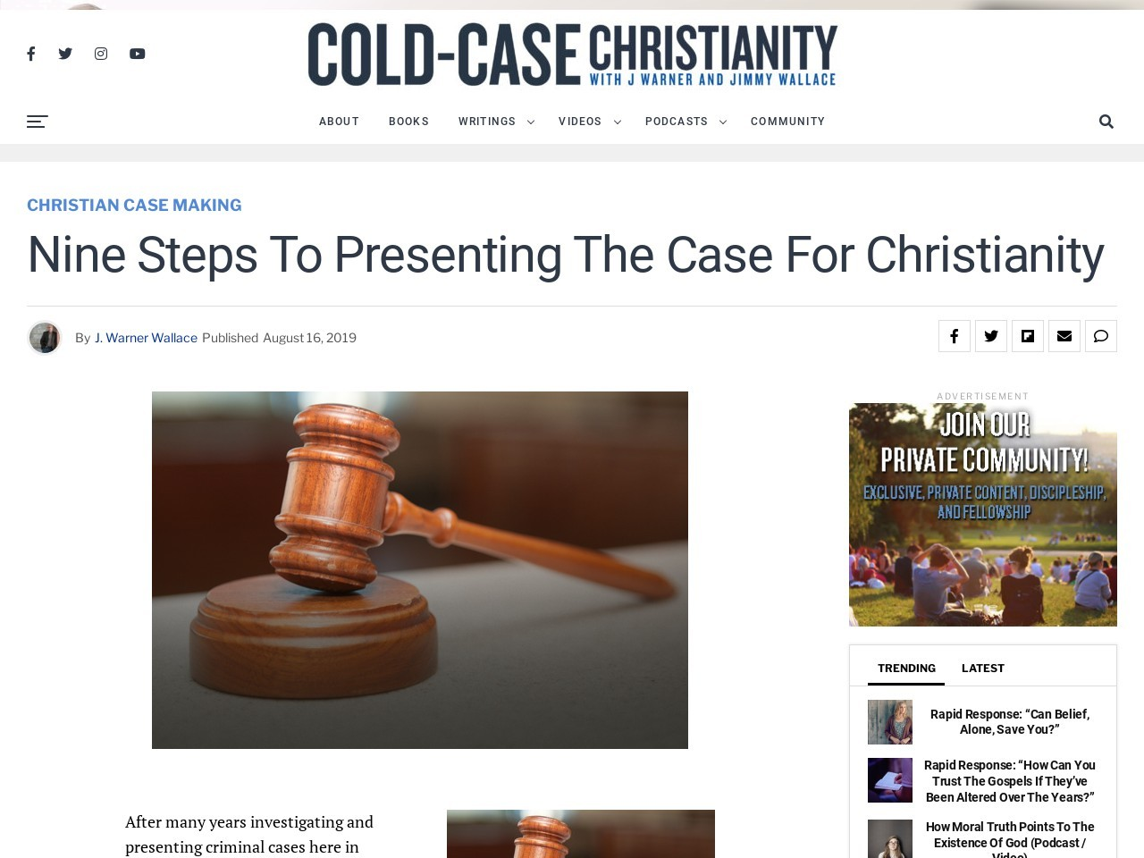 Nine Steps to Presenting the Case for Christianity | Cold …