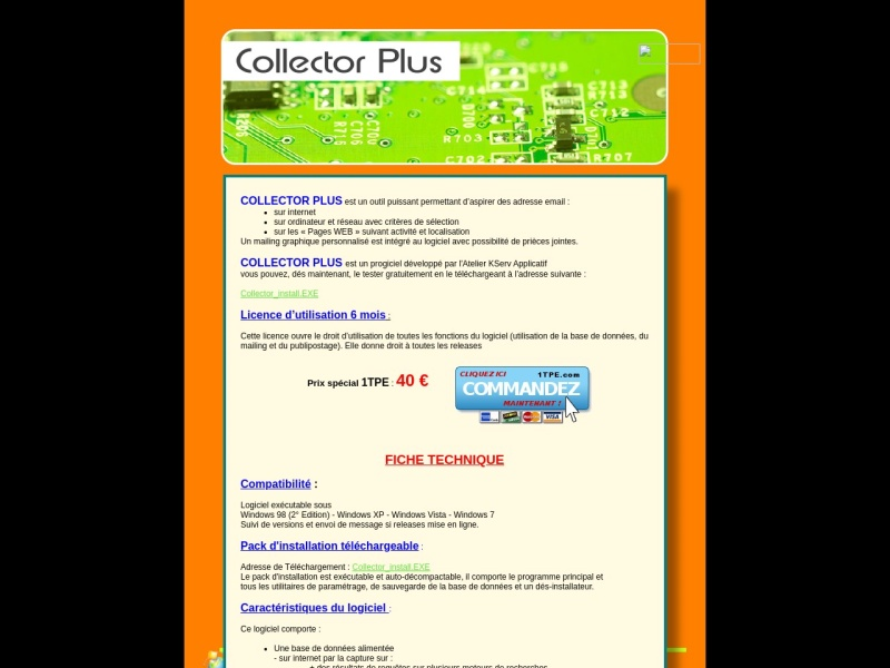 collector plus licence 6 mois