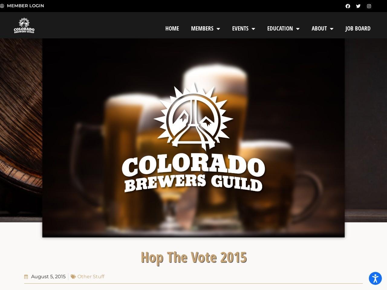 Hop The Vote 2015