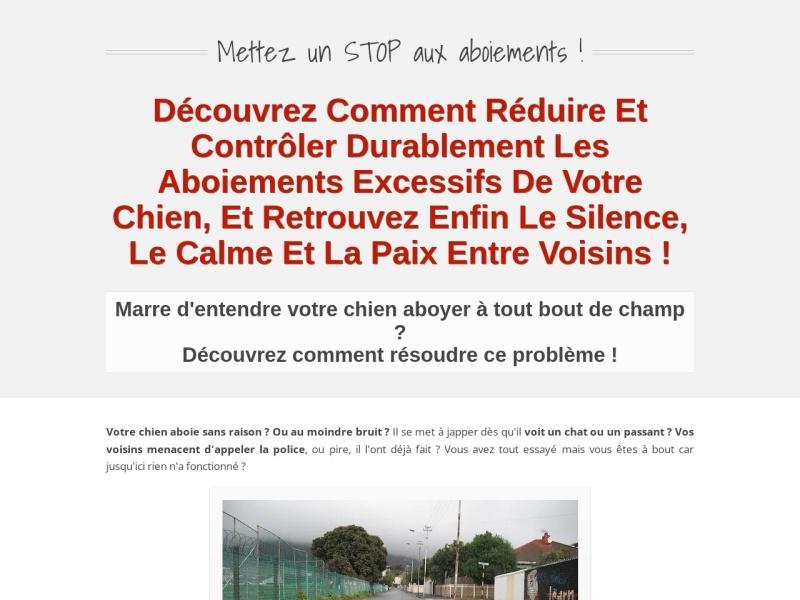 la methode ''stop aux aboiements !'' (+ 3 bonus)