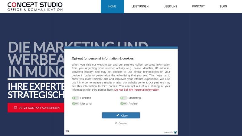 concept-studio.de Vorschau, CONCEPT STUDIO Marketing & Kommunikation