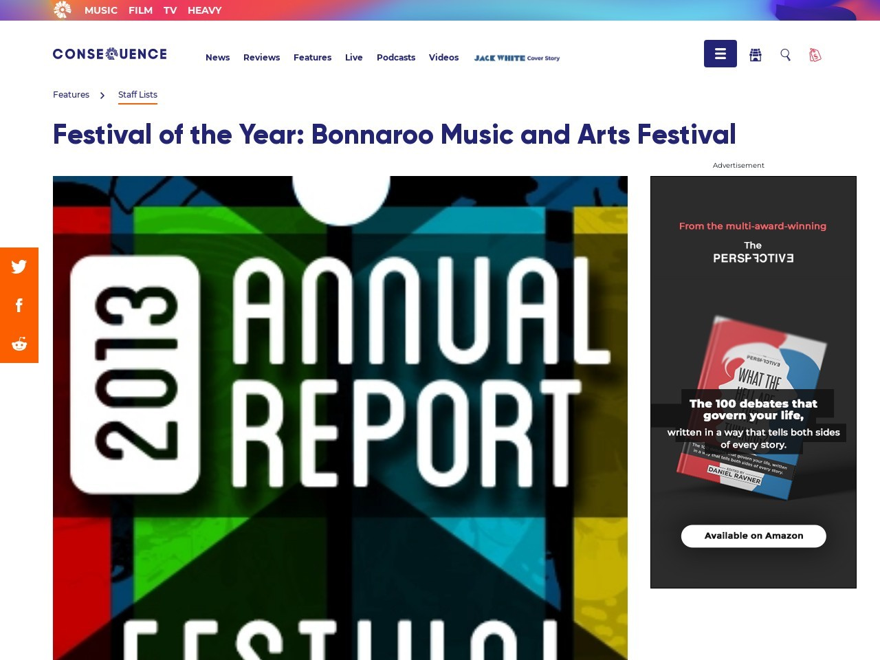 Festival of the Year: Bonnaroo Music and Arts Festival …