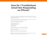 How Do I Troubleshoot Gmail Not Responding on iPhone?