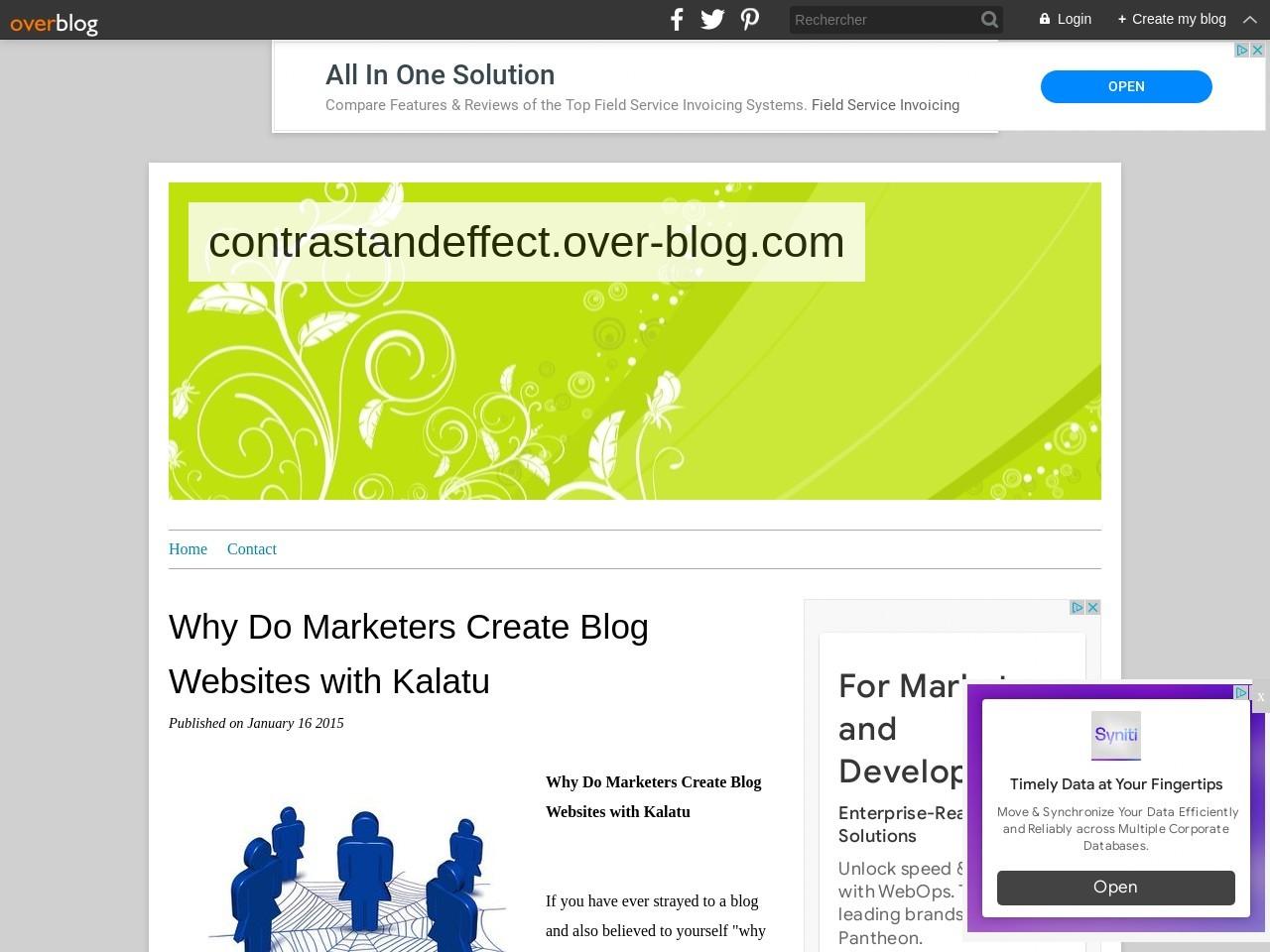 Why Do Marketers Create Blog Websites with Kalatu …