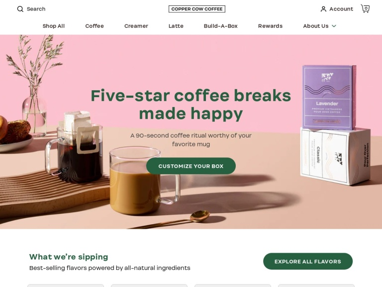 Copper Cow Coffee Coupon Codes & Promo codes