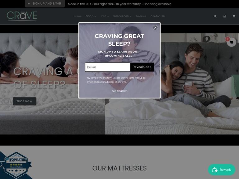 Crave Mattress Coupon Codes
