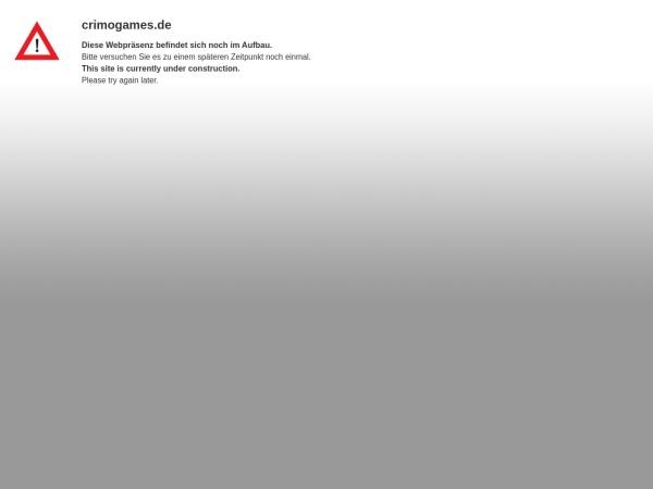 Details : Crimogames - Hier zockt der Chef noch selbst