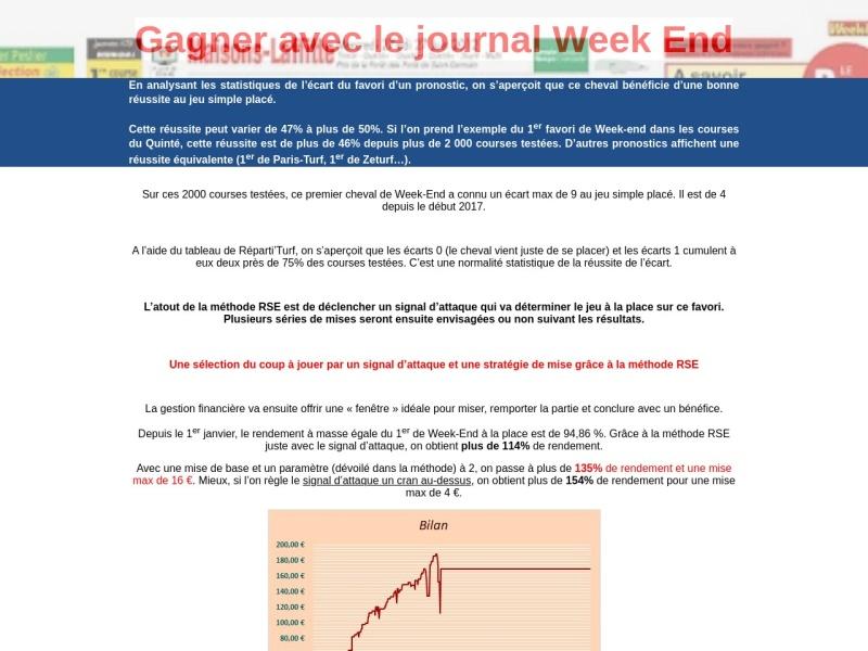 turf: gagner avec le pronostic du journal week end