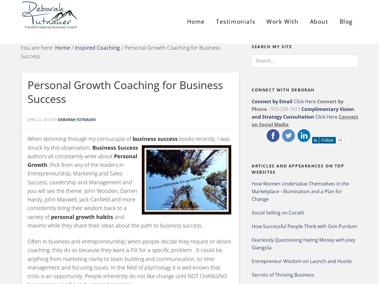 Personal Growth Coaching for Business Success