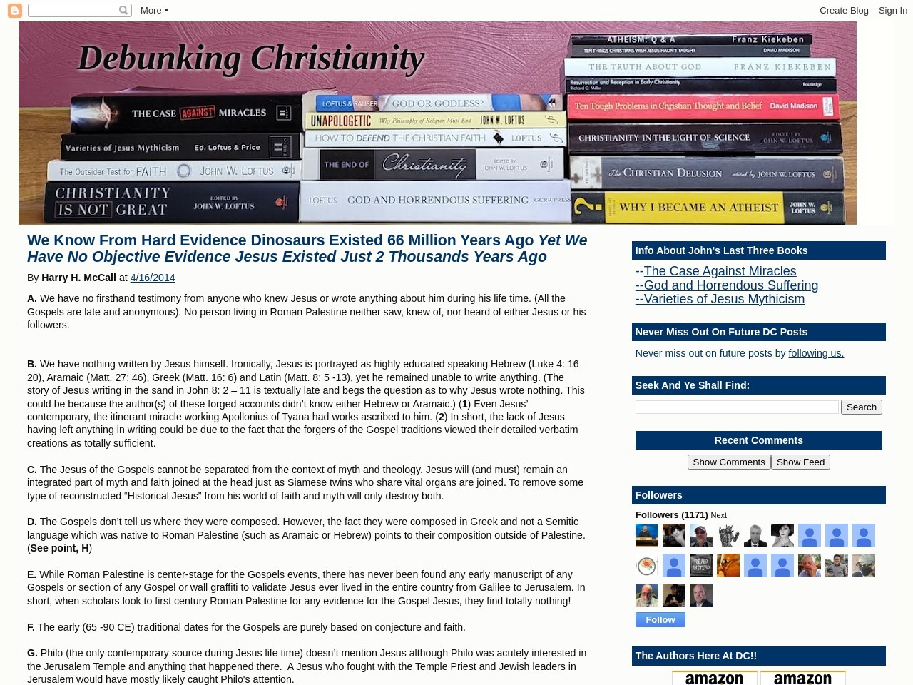 Debunking Christianity: What We Know From Hard …
