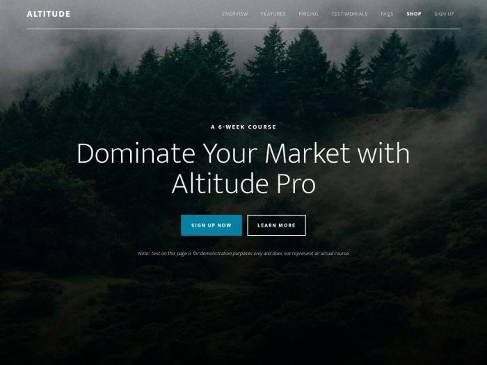 http://demo.studiopress.com/altitude/
