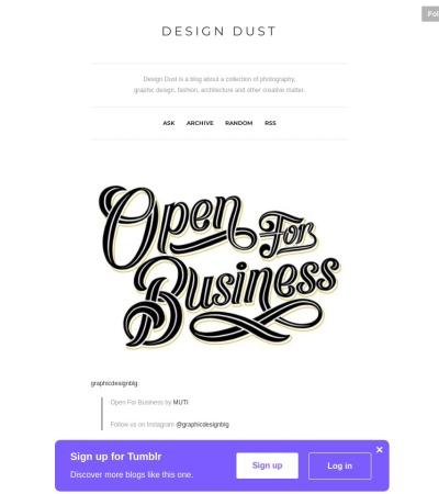 http://designdust.tumblr.com/