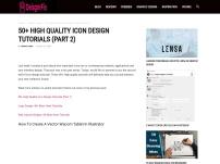 50+ High Quality Icon Design Tutorials (Part 2)
