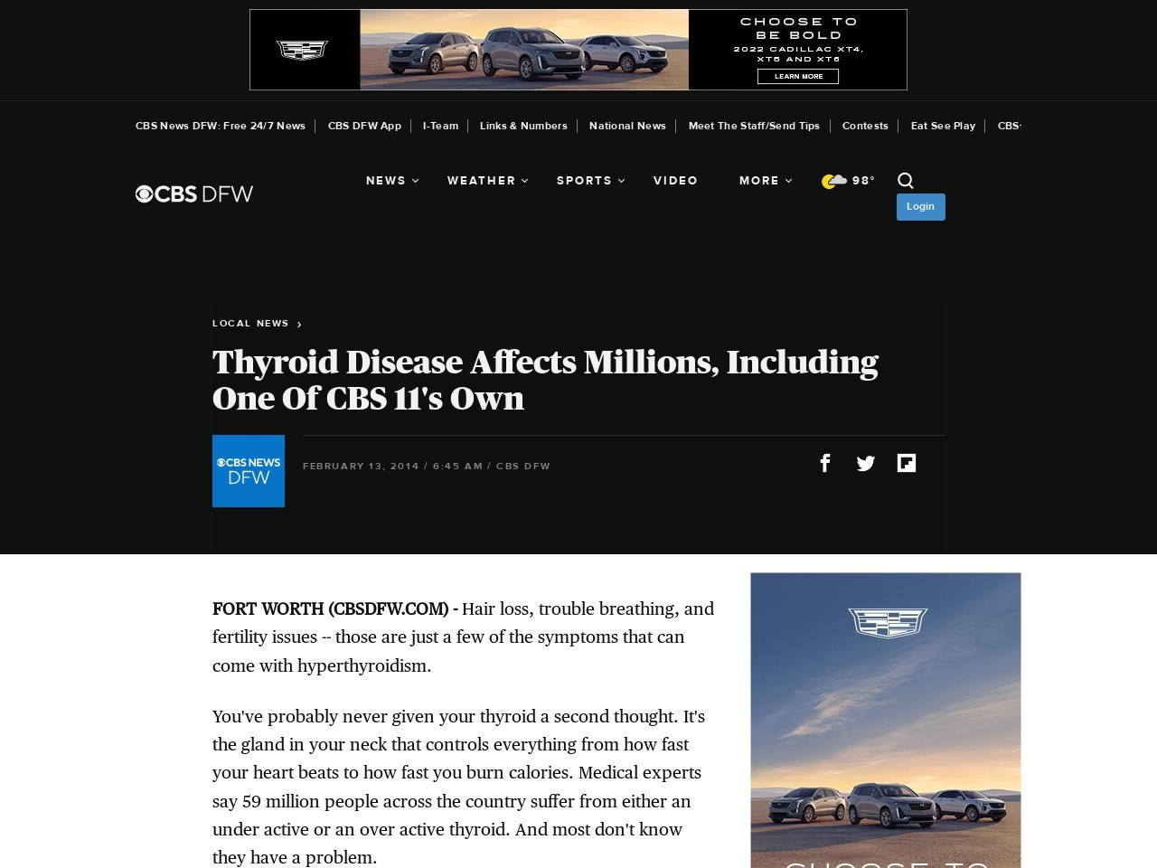 Thyroid Disease Affects Millions, Including One Of CBS 11′s Own
