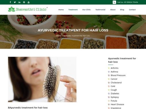 ayurvedic treatment for hair loss in chennai