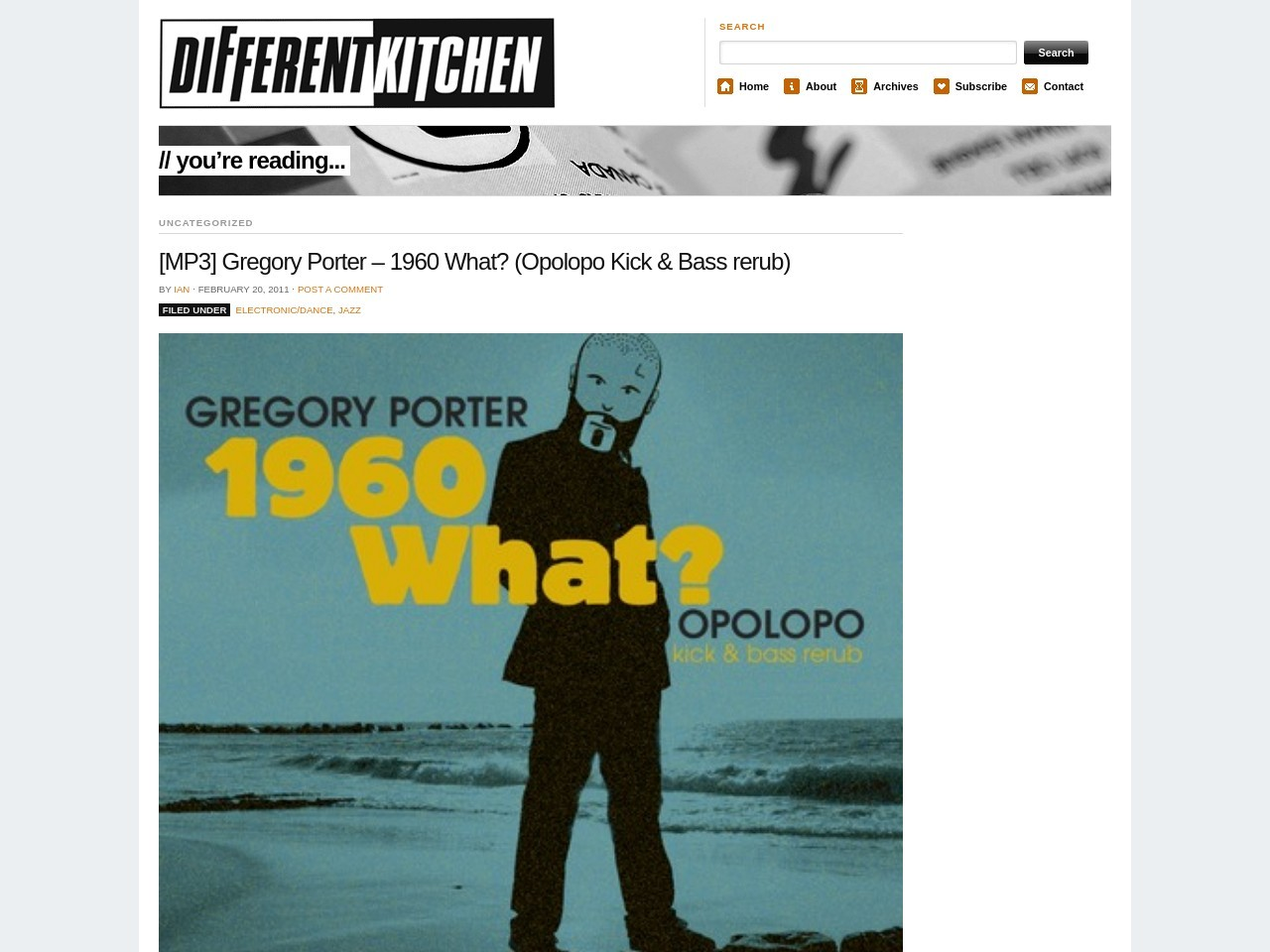 [MP3] Gregory Porter – 1960 What? (Opolopo Kick & Bass rerub)