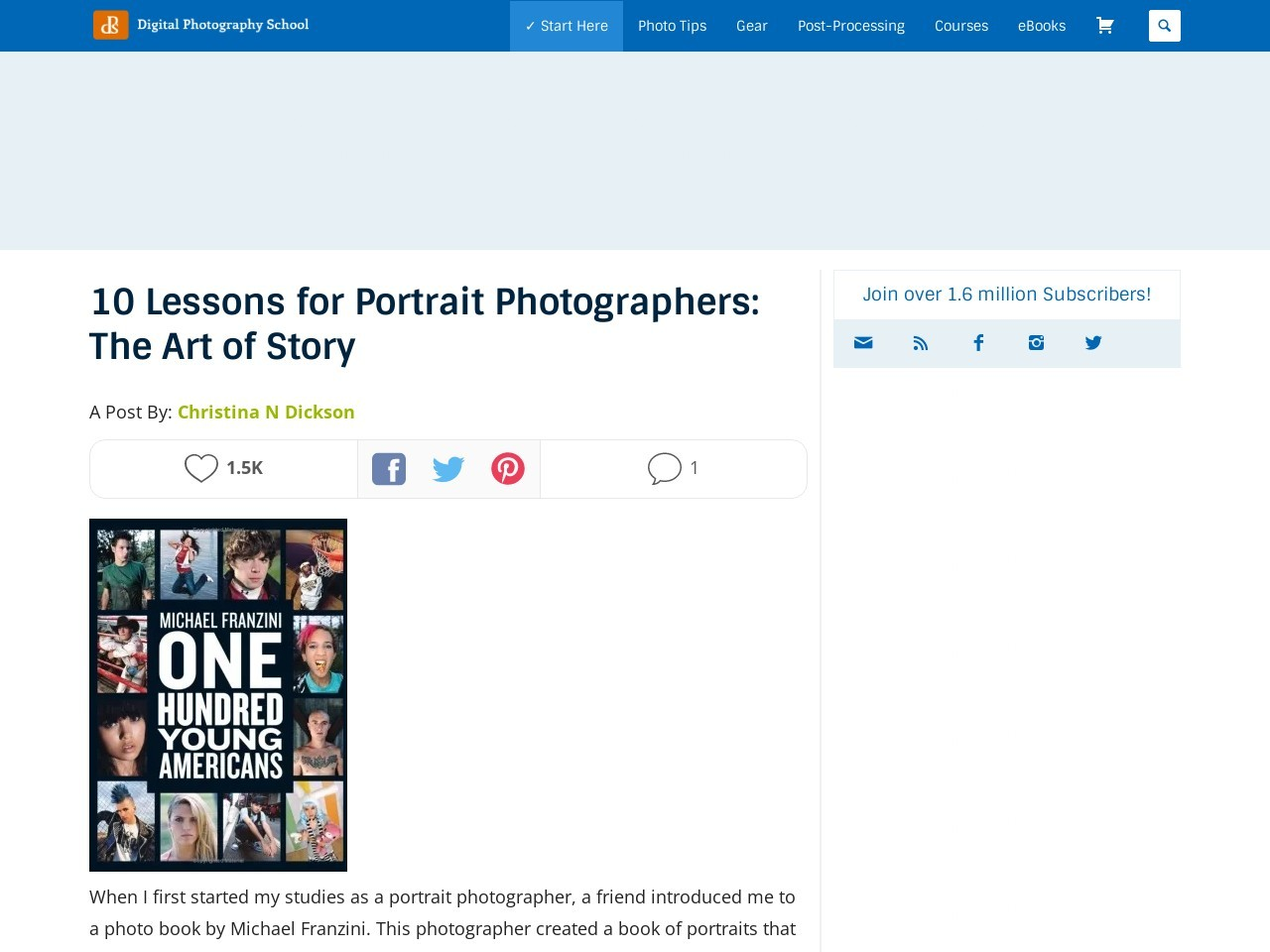 10 Lessons for Portrait Photographers: The Art of Story …
