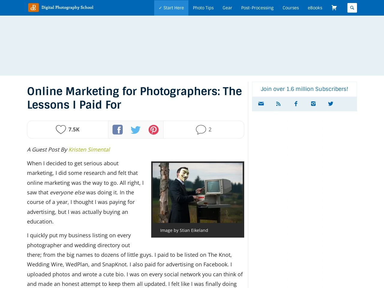 Online Marketing for Photographers: The Lessons I Paid For …
