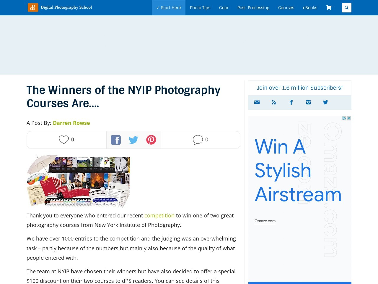 The Winners of the NYIP Photography Courses Are…. – Digital …