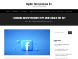 FACEBOOK ADVERTISEMENTS TIPS YOU SHOULD TRY OUT