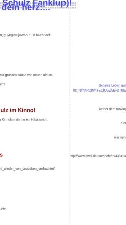 Vorschau der mobilen Webseite dillett.antville.org, Olli Schulz Fanklup