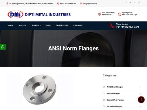 ANSI Norm Flanges Manufacturer in India