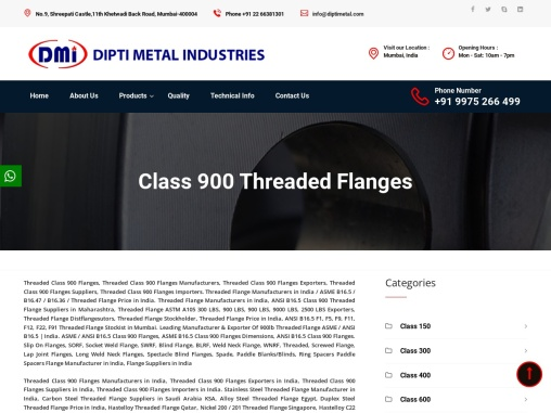 Threaded Class 900 Flanges Exporters