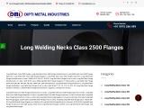 Long Weld Neck Class 2500 Flanges Exporters