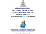 MEDITATIONS GUIDEES : PLEINE CONSCIENCE 123