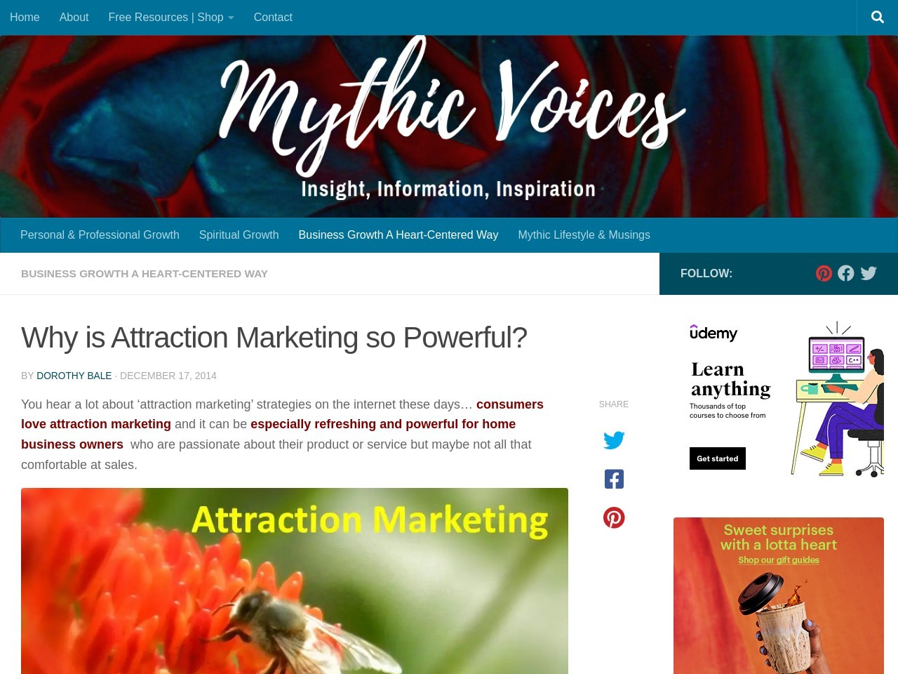 Why is Attraction Marketing so Powerful | Dorothy Bale