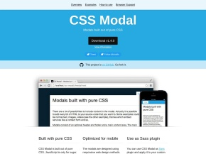 CSS Modal – Modals built out of pure CSS